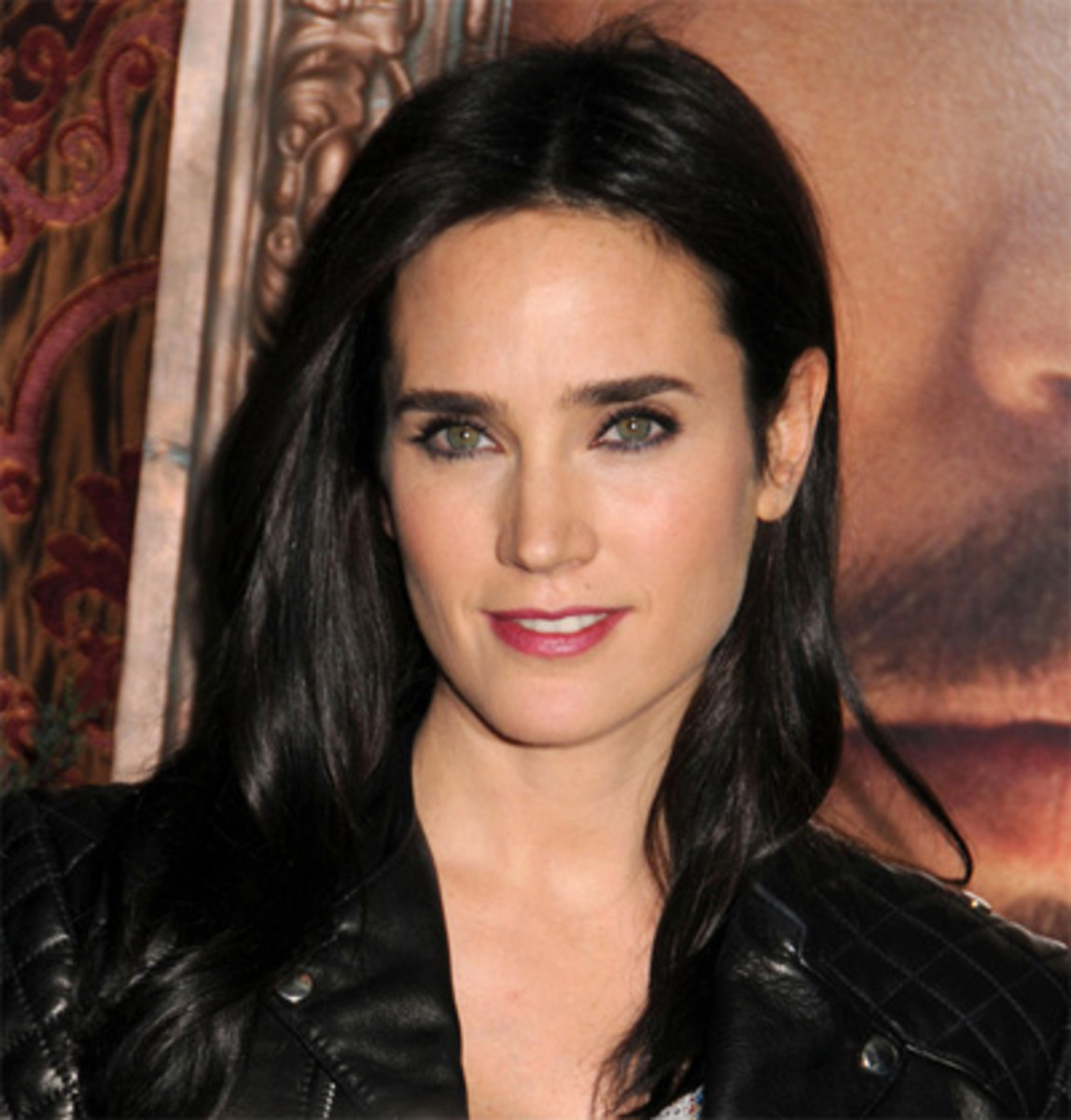 Actress Jennifer Connelly. Famous women with jet black hair color.