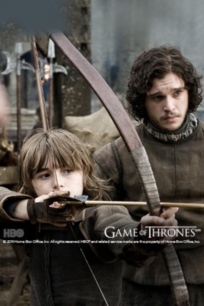 Jon Snow with Bran Stark