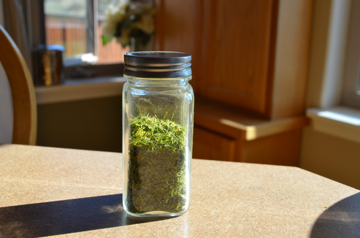 Spice jars or apothecary jars are handy to store your fresh dried herbs in.