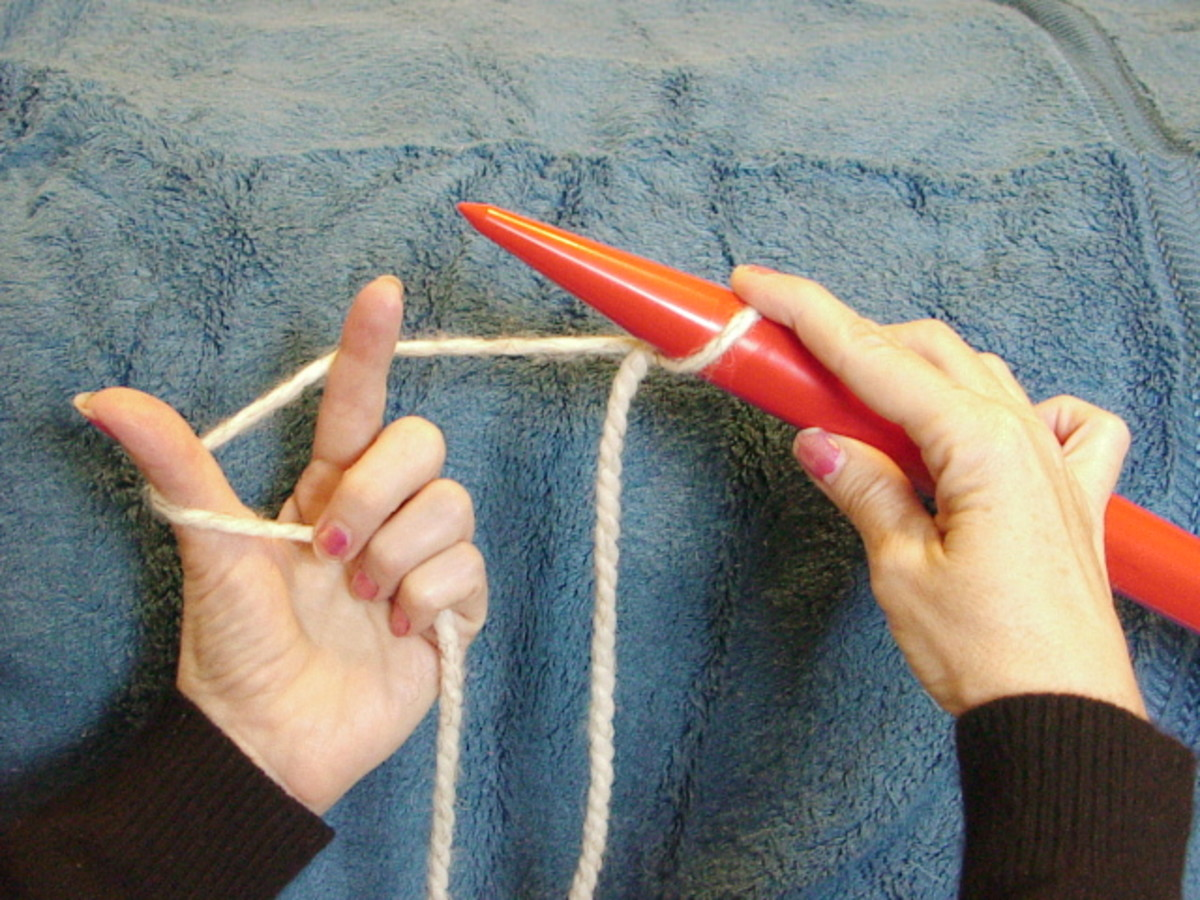 Knitting How To Cast On For Beginners : Knitting for beginners how to cast on in