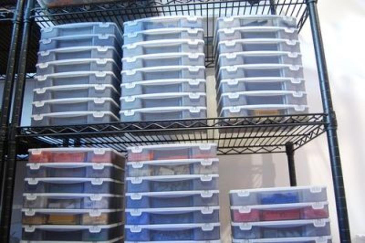 Professional Lego storage system.