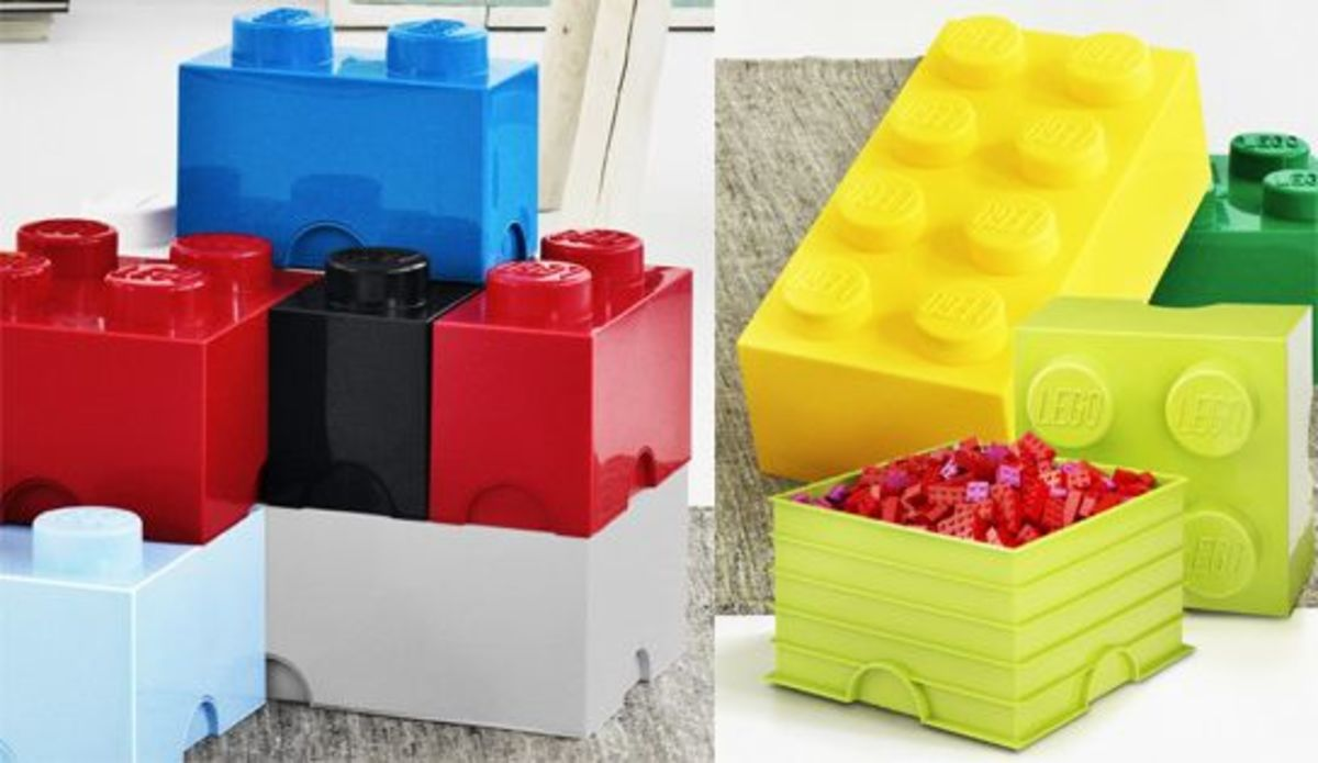 Lego storage bricks.