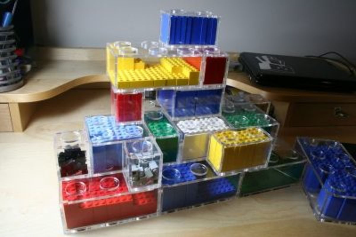 Awesome DIY Clear Acyrilic  Lego Storage Containers