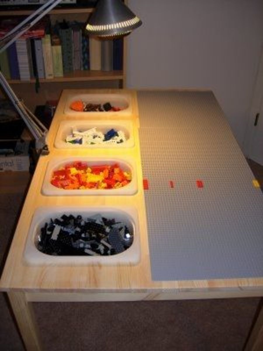 Homemade Lego Building Table and Storage