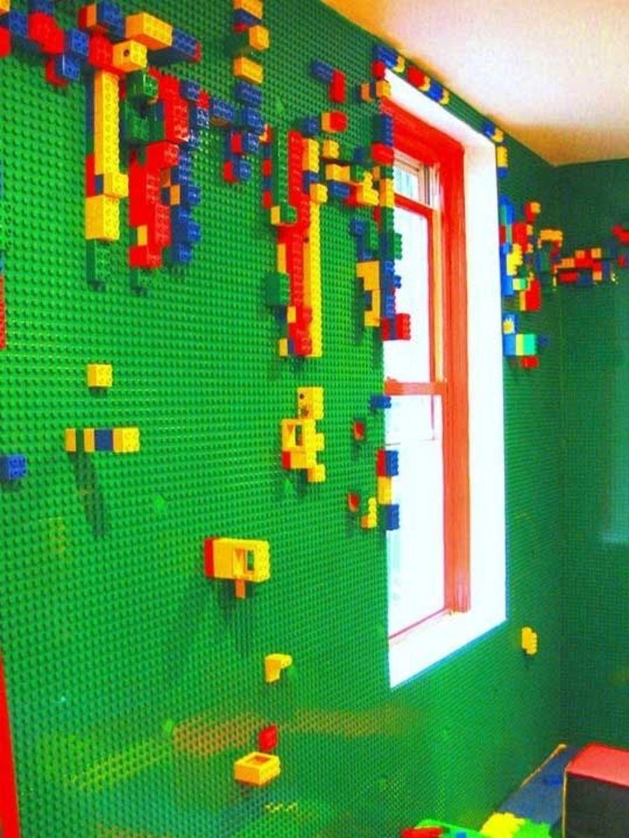 Lego wall.