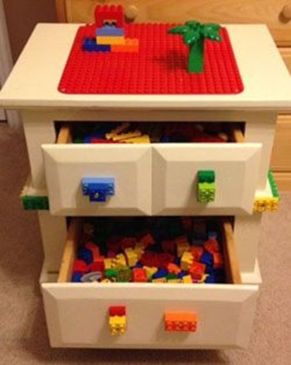 Lego Drawers and Play Table