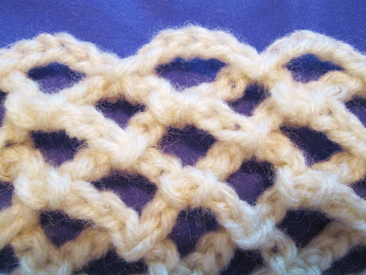 Picot, a design using just chain and slip stitches