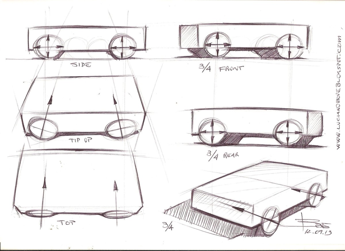 Car sketch tutorials by Luciano Bove