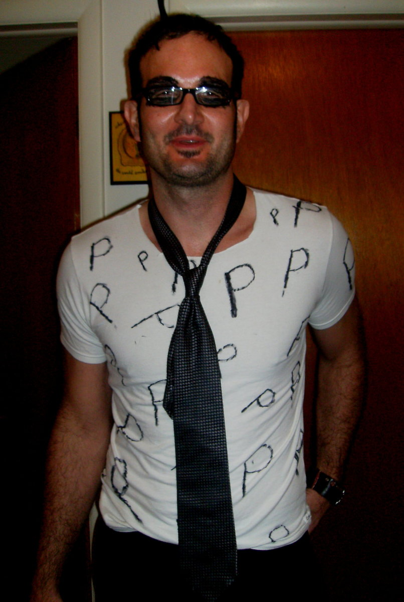 My brother, Greg, as Black Eyed Peas. He blacked out both eyes.