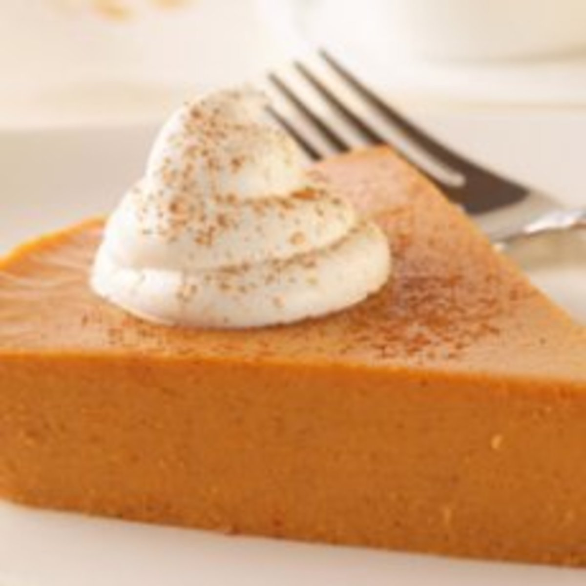 This pie has no crust, saving both preparation time and calories.