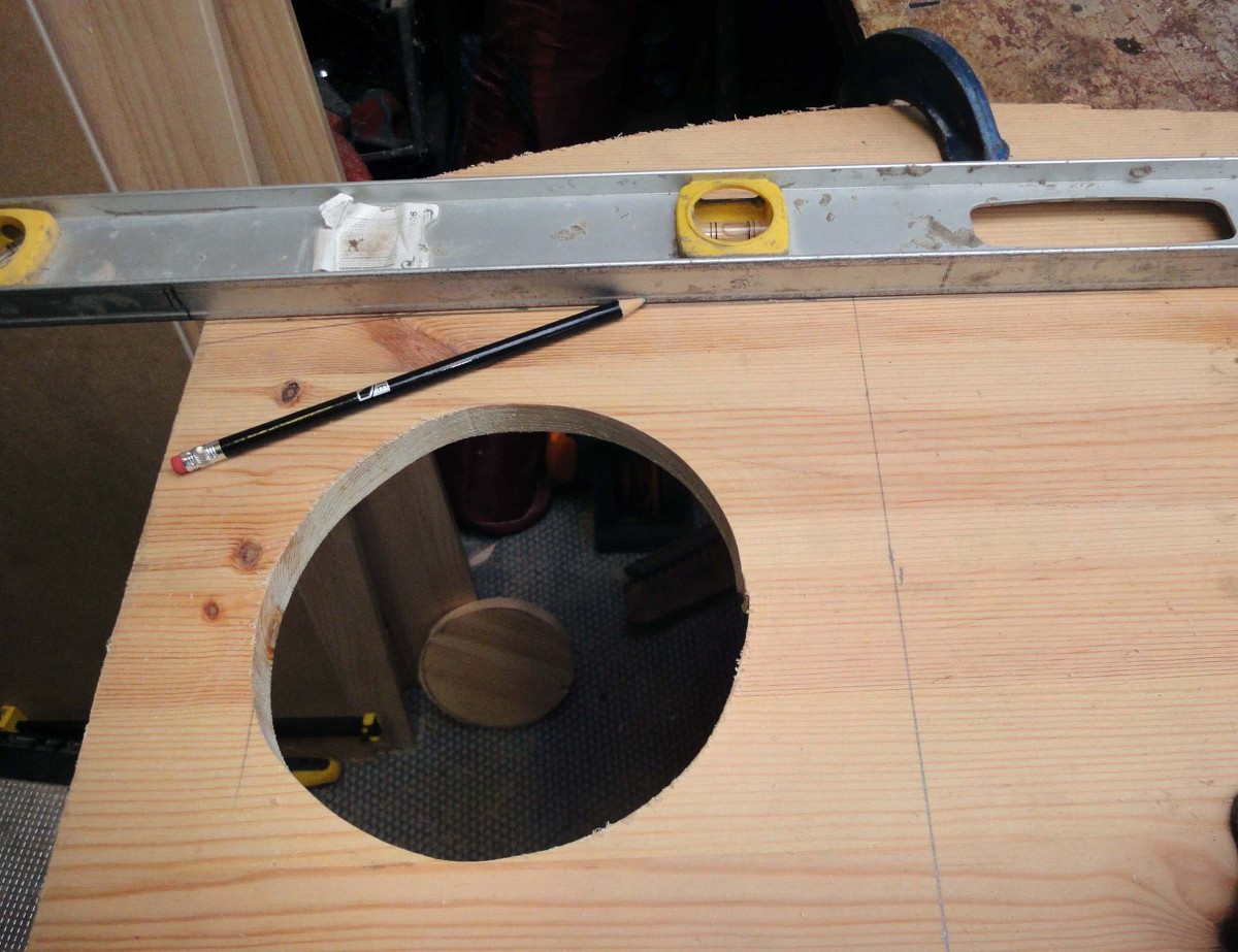Use a jig saw to cut out the circle.