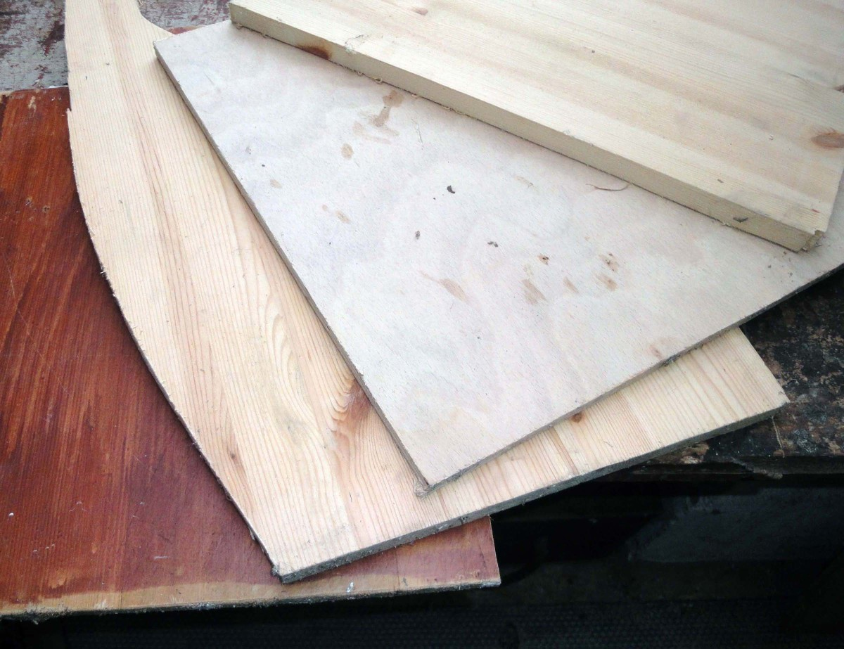Select 3/4 inch wood e.g. pine board or plywood.