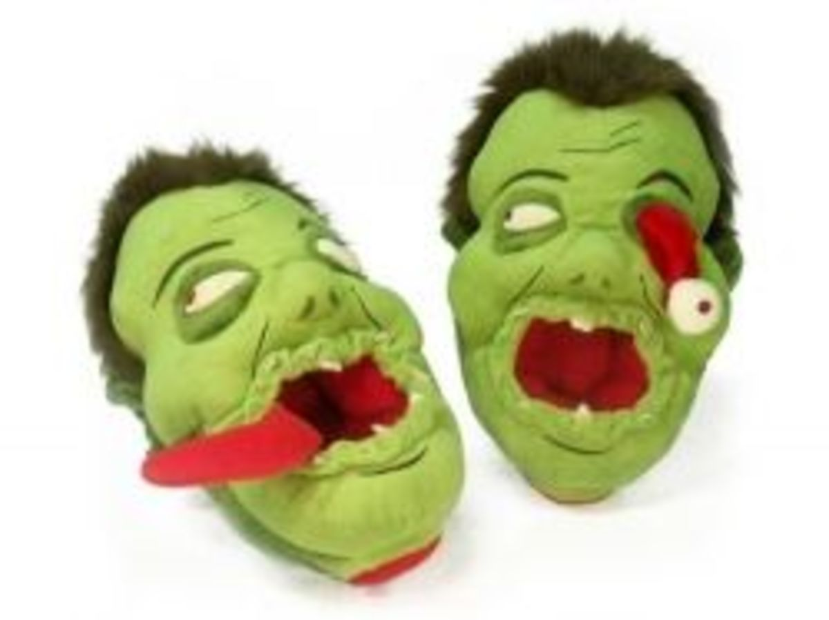Zombie Slippers for Adults