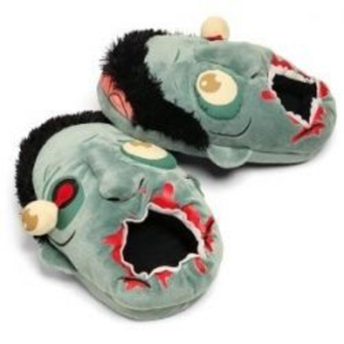 Zombie Plush Slippers