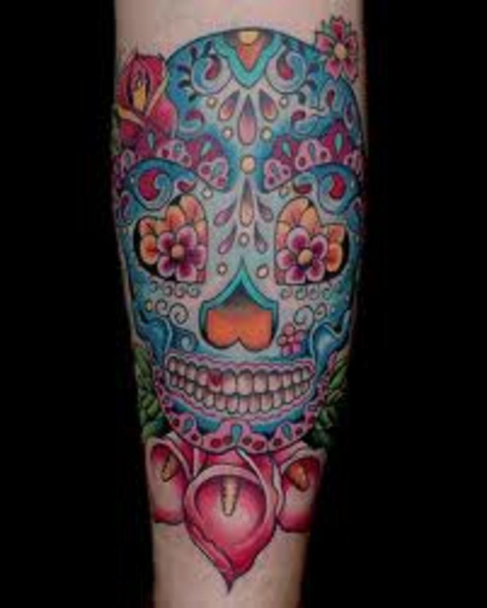 Sugar Skull Tattoos And Designs-Sugar Skull Tattoo Meanings And Ideas-Sugar Skull Tattoo Pictures