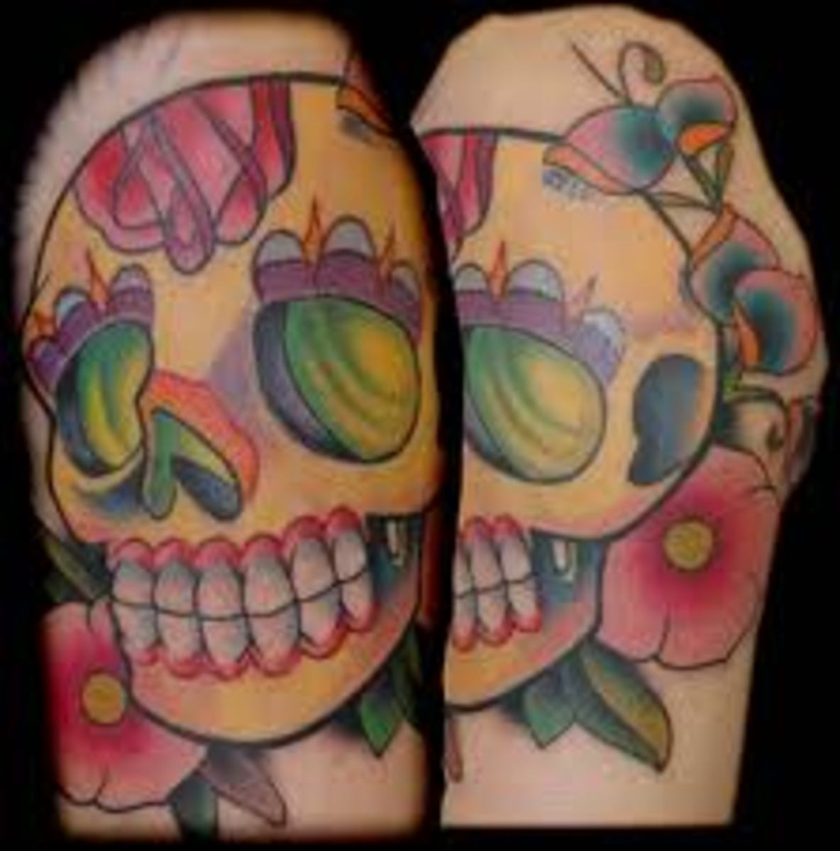 sugar skull tattoos and designs sugar skull tattoo meanings and ideas sugar skull tattoo. Black Bedroom Furniture Sets. Home Design Ideas