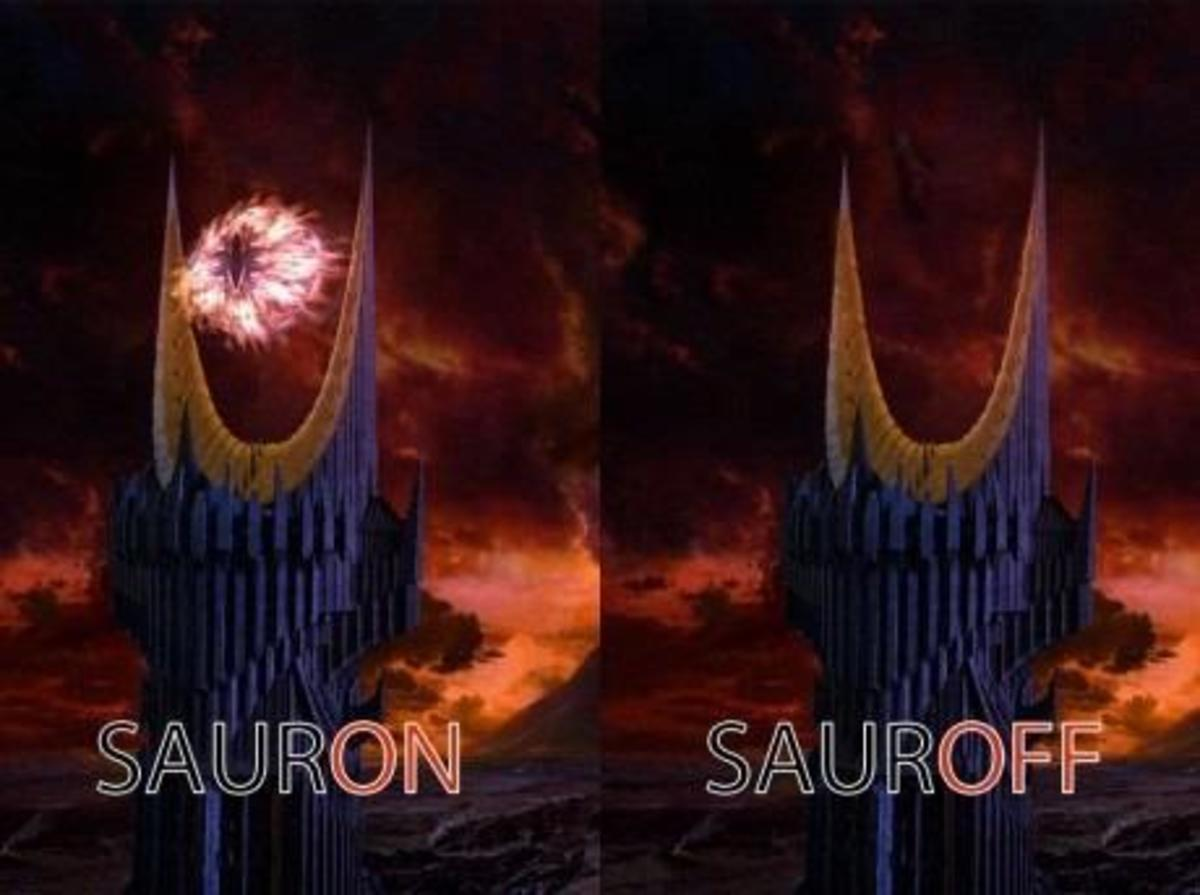 This parody of the Eye of Sauron in Peter Jackson's Lord of the Rings films has been floating around the web for several years.