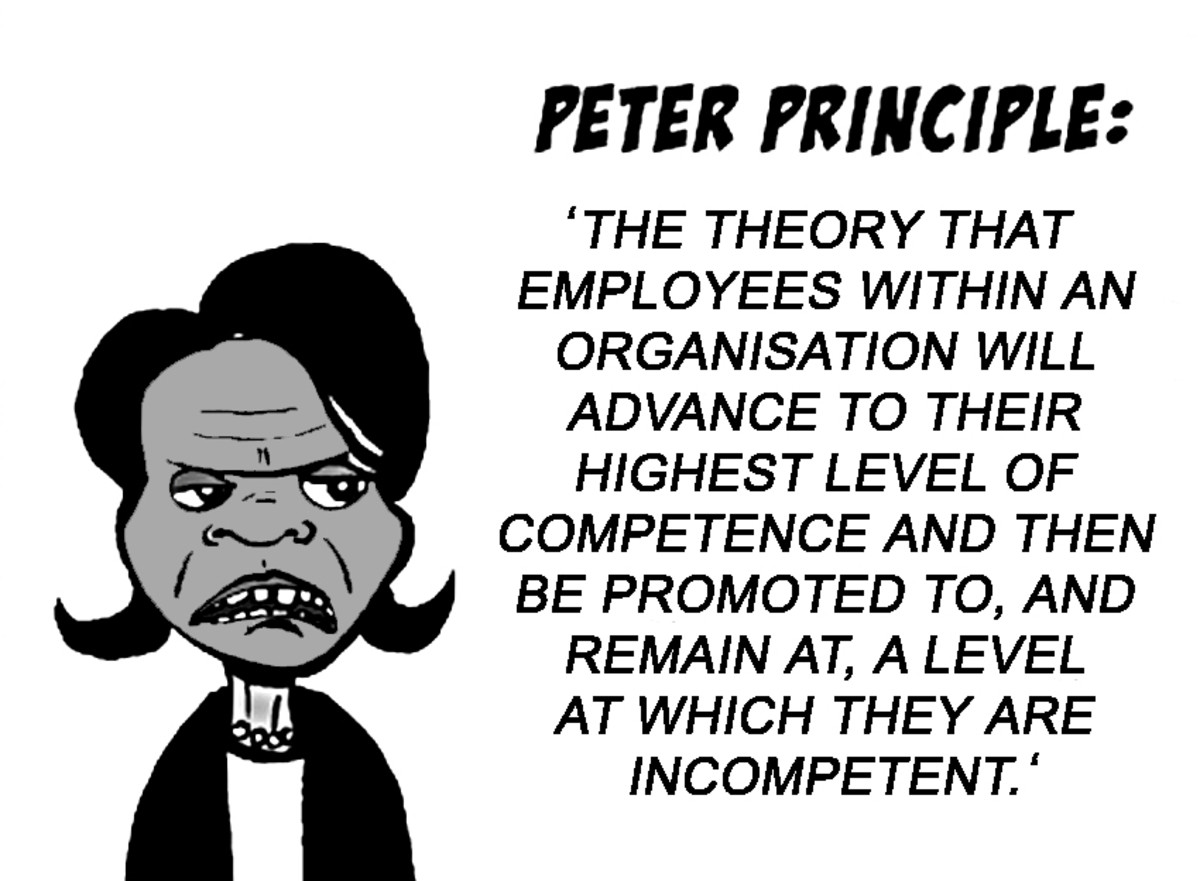 an analysis of the peter principle The title of peter senge´s book the fifth discipline cites one of the five disciplines to create a  it is the principle which brings the other four.