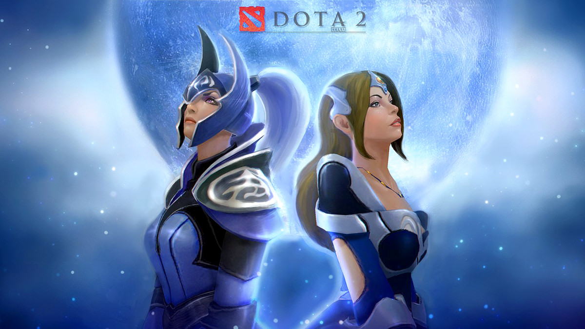 Luna Moonfang and Mirana  DOTA 2 HD Wallpaper