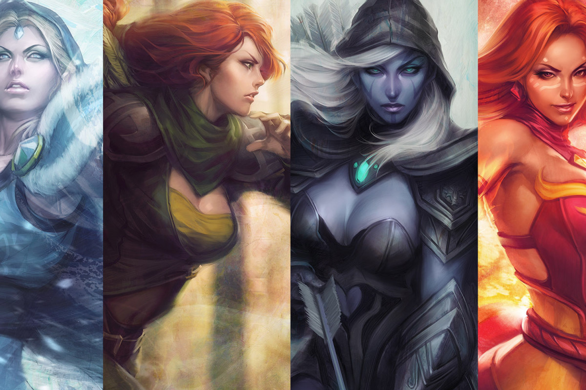 DOTA 2 Female Heroes HD Wallpaper