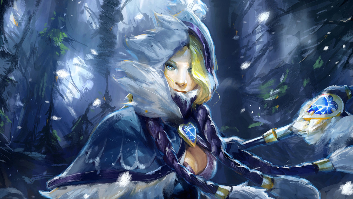 Crystal Maiden  DOTA 2 HD Wallpaper