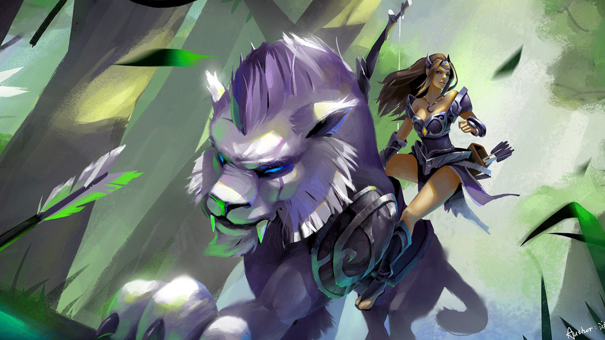 Mirana Priestess of the Moon  DOTA 2 HD Wallpaper