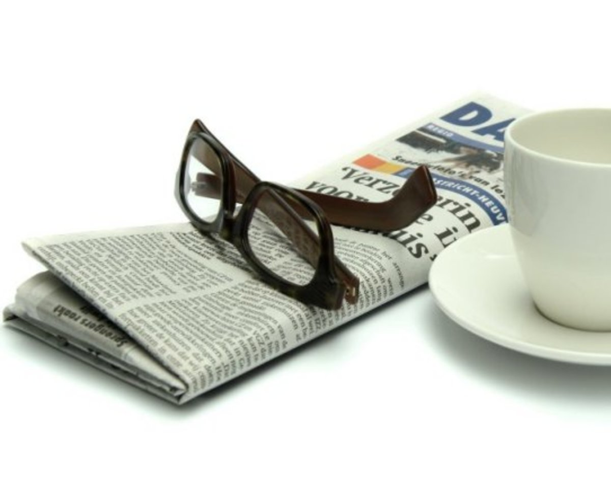 Get into the habit of reading the newspaper with your morning cuppa.