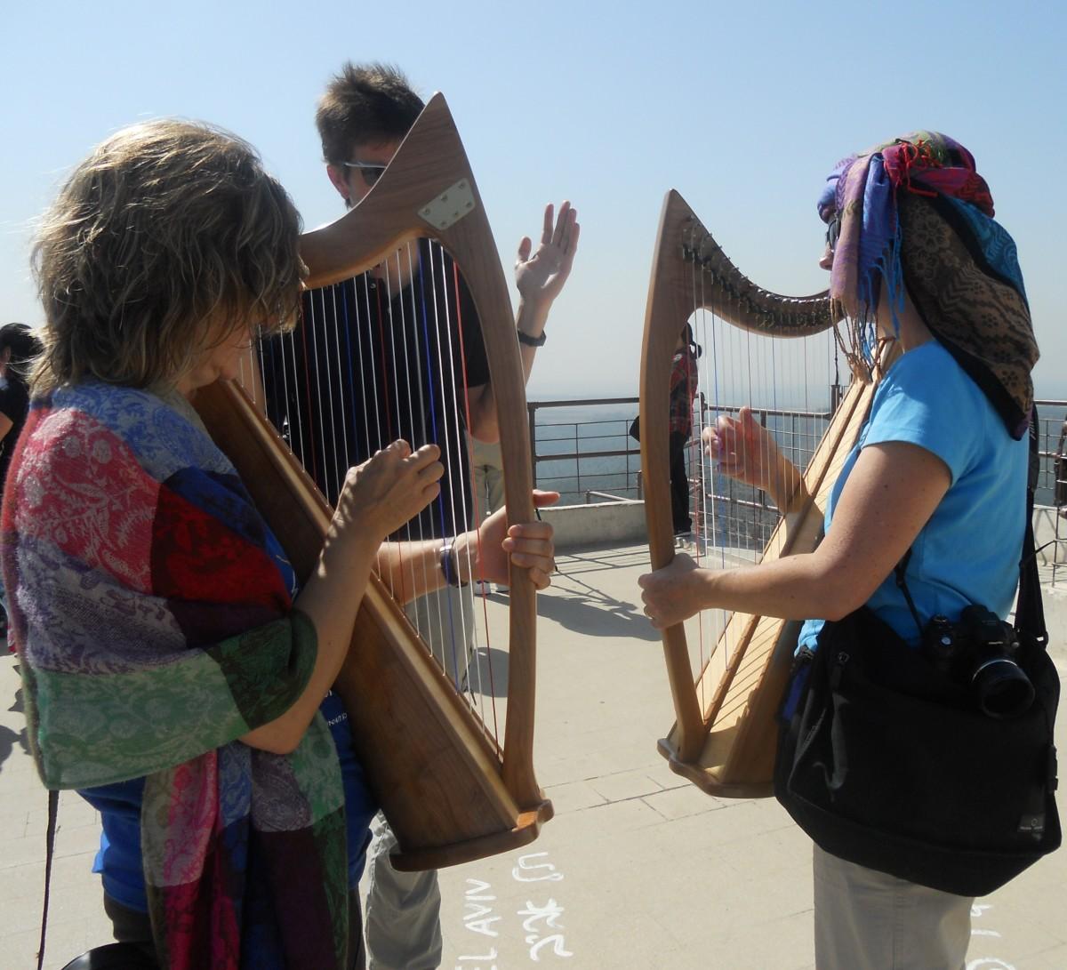 Harp Worship on Mt Carmel, Israel