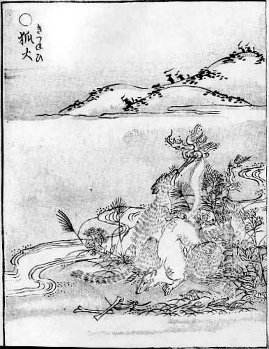 Toriyama Sekien published 1776. From Volume 1 of Gazu Hyakki Yagyo. In public domain and in US PD-23 (published before 1923).