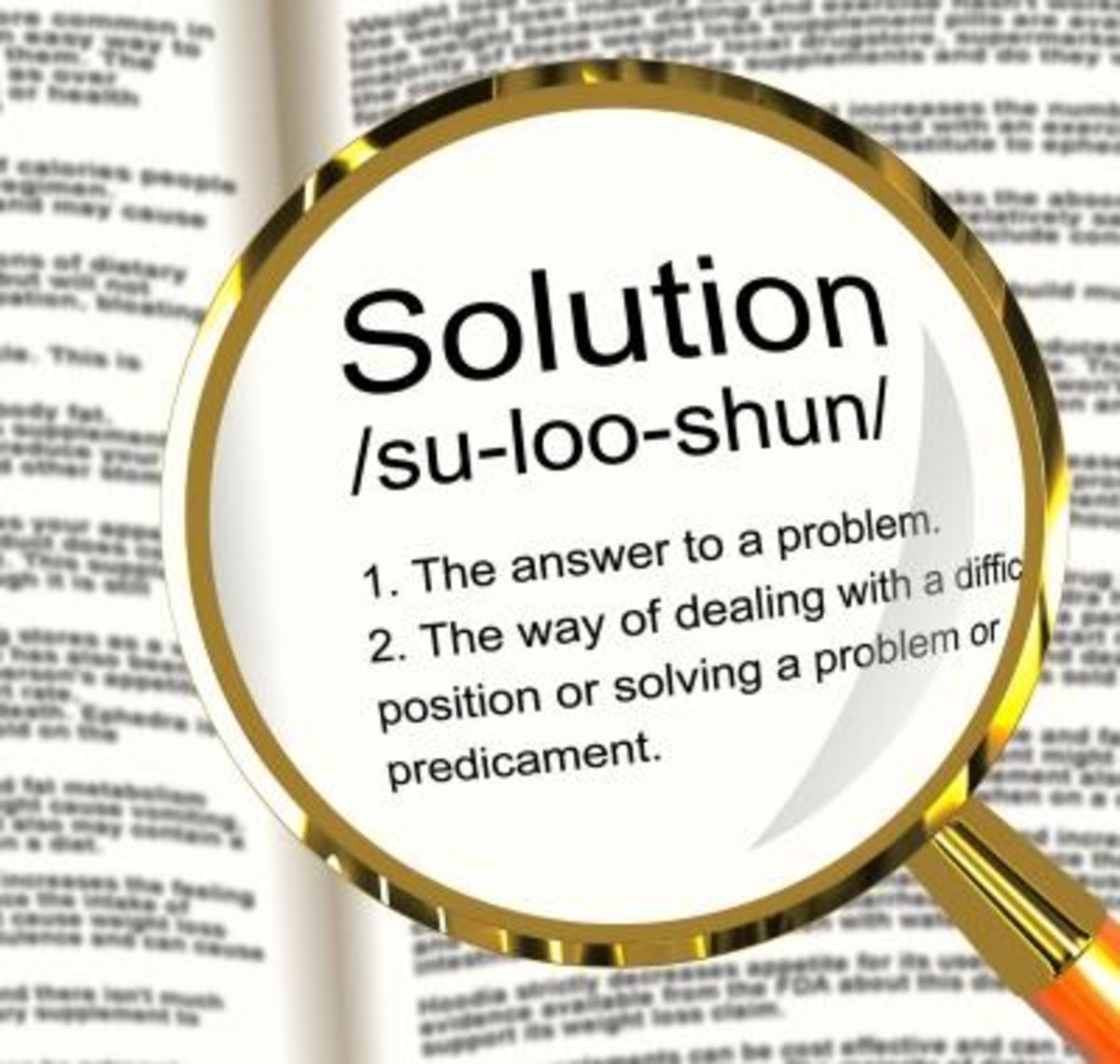 Looking for a solution to a problem is the worst way to interpret the Bible.