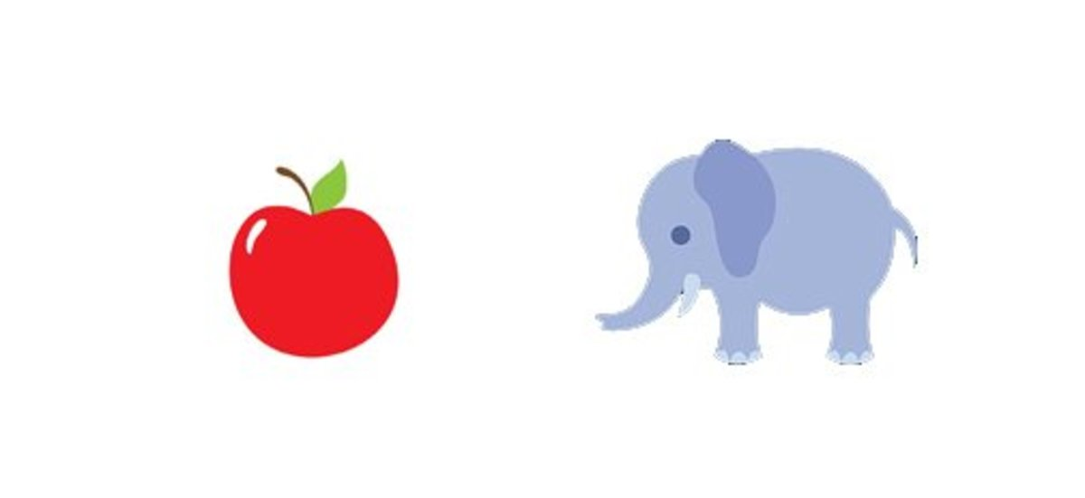 are like apples and elephants.