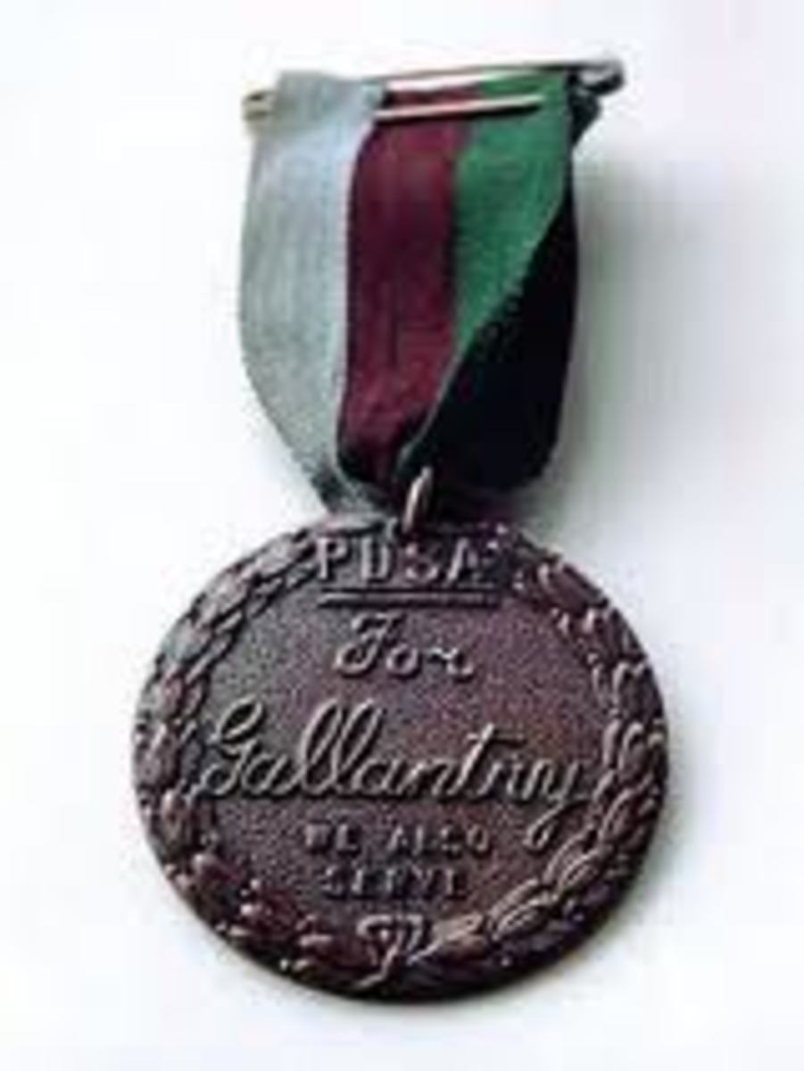 The PDSA  Dickin Medal.   Awarded to animals who have displayed conspicuous gallantry.