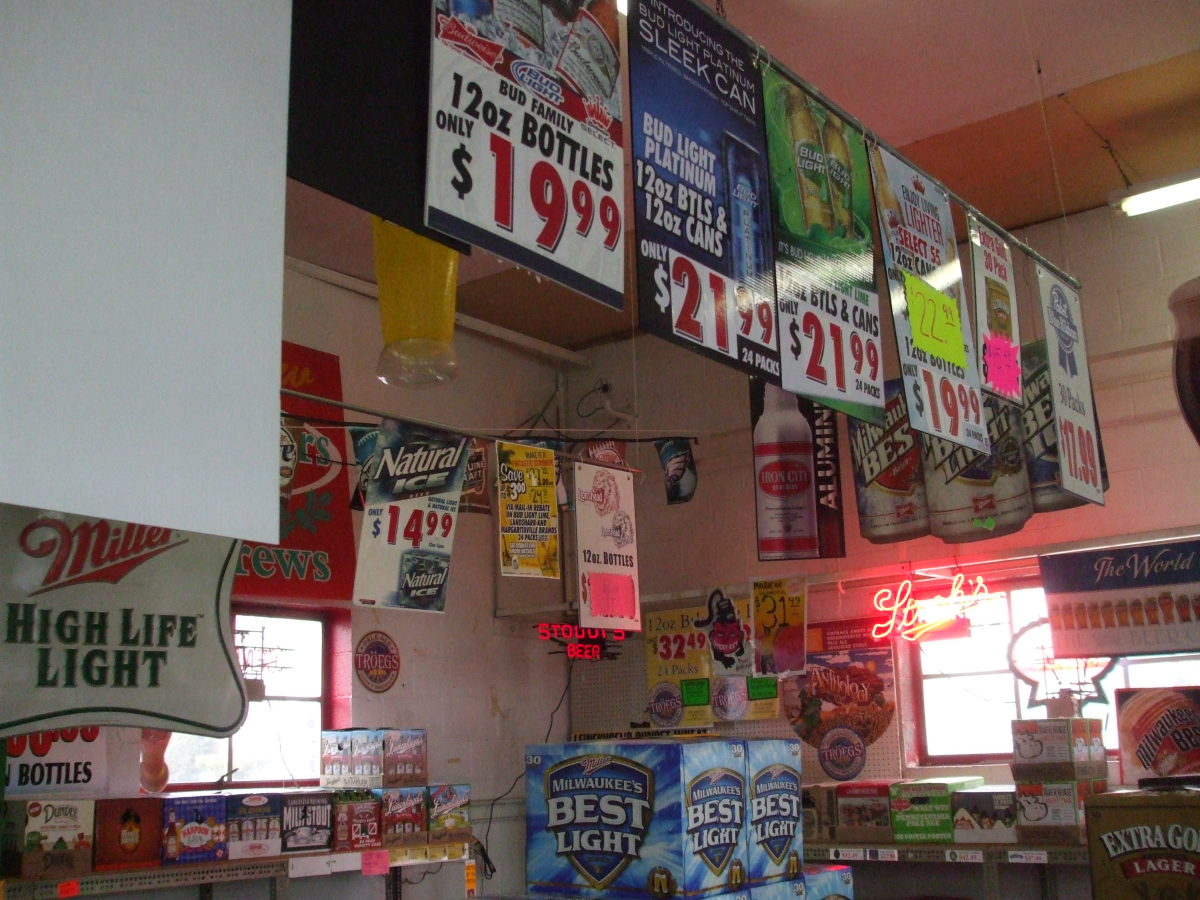 Typical PA beer distributor's interior.