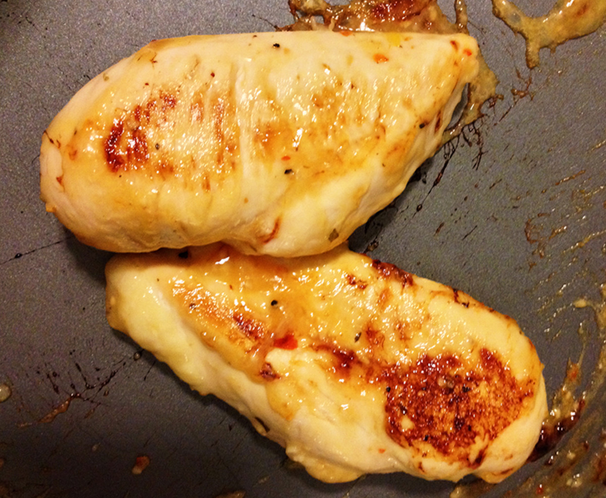 -- All Rights Reserved -- Do Not Distribute --  Honey Italian Glazed Chicken Breasts in Skillet.