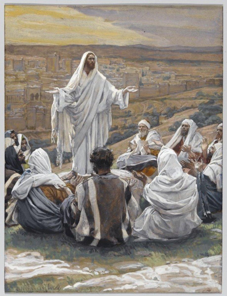 Jesus teaching His disciples to pray