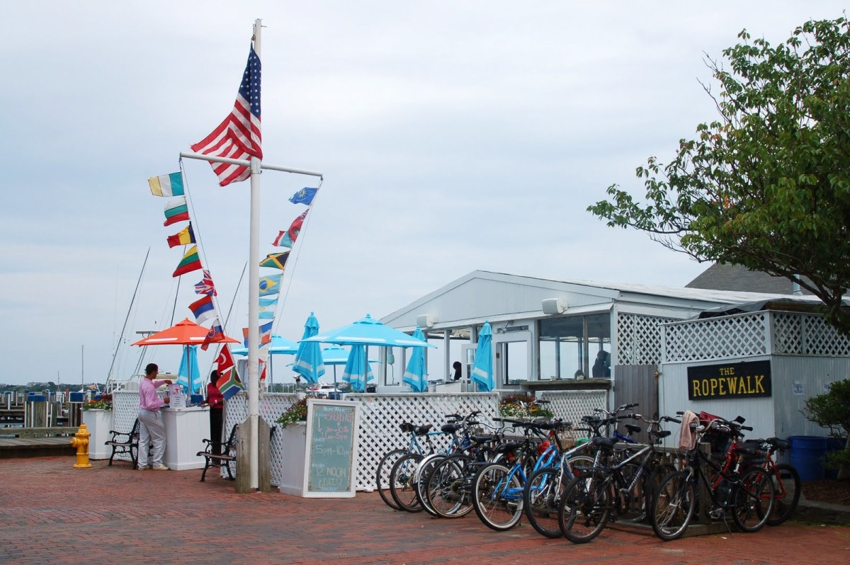 The RopeWalk was the first place we dined. It is located right by the Nantucket Boat Basin.