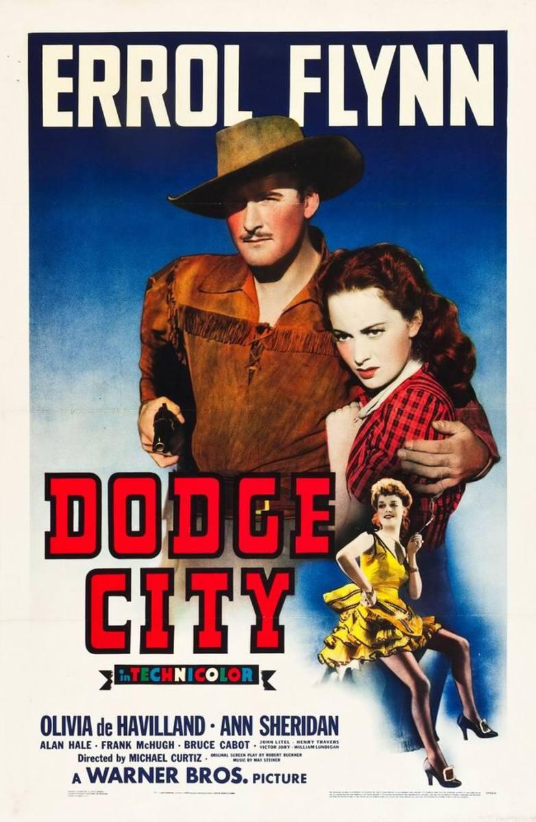 Dodge City (1939) Italian poster