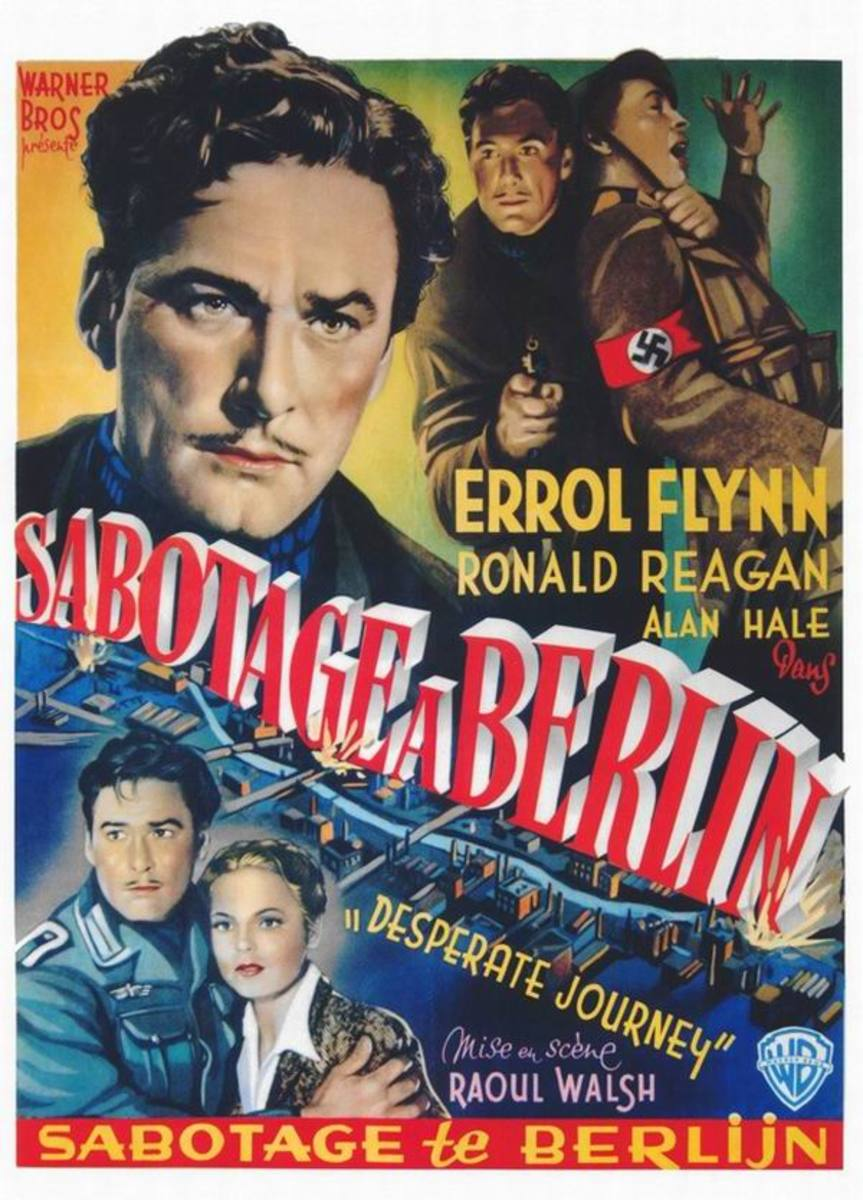 Desperate Journey (1942) Belgian poster