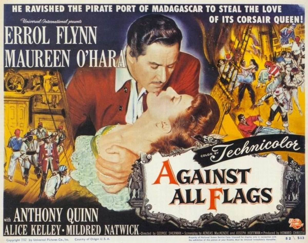 Against All Flags (1952) UK poster