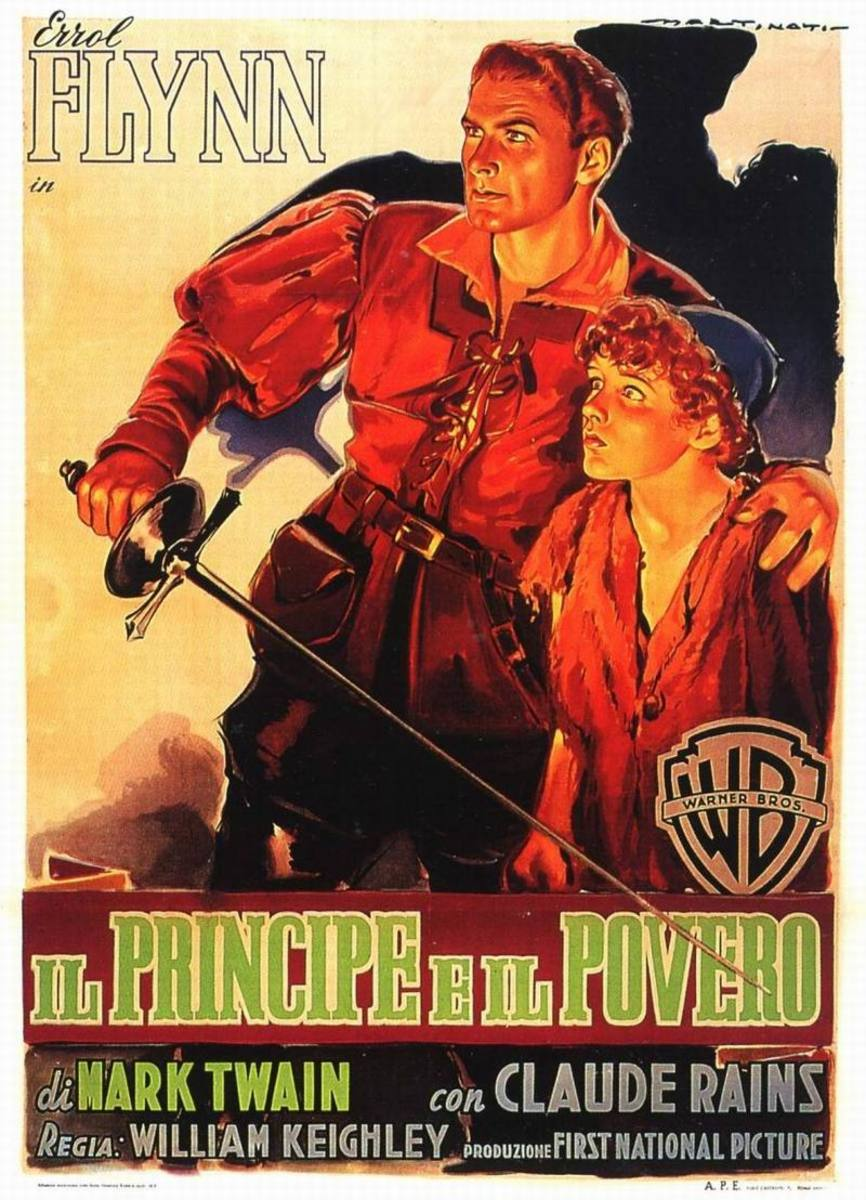 The Prince and the Pauper (1937) Italian poster