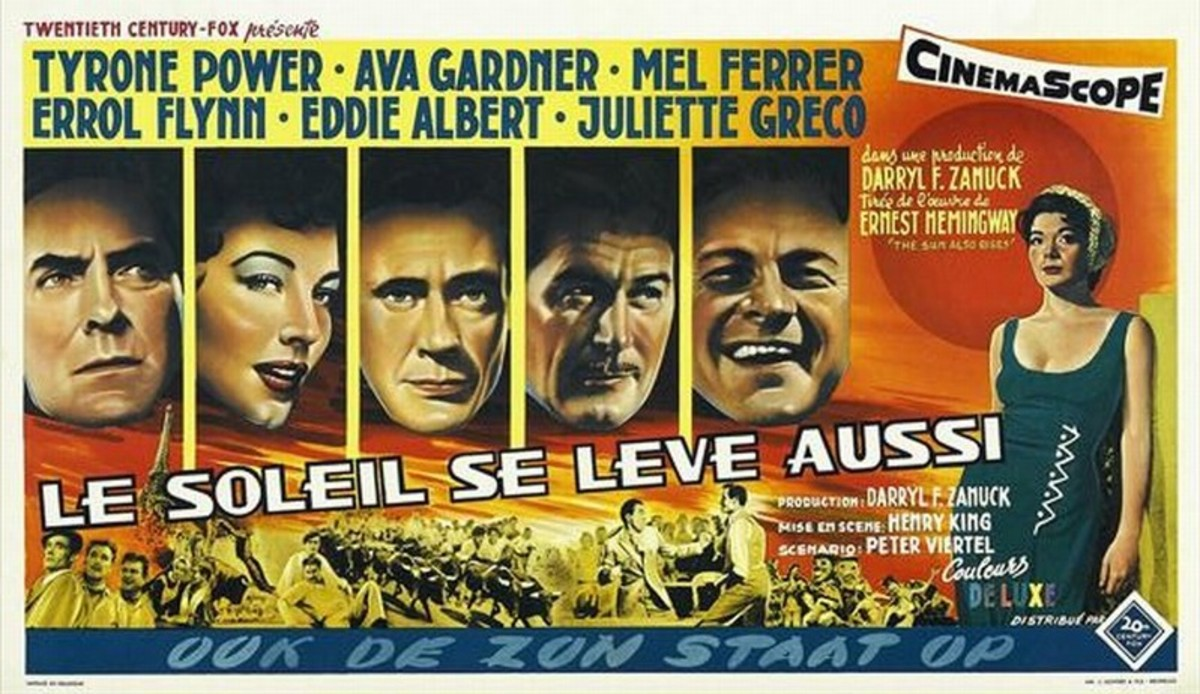 The Sun Also Rises (1957) Belgian poster