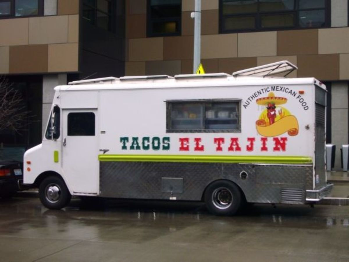 Tacos El Tajin on a Street in Seattle