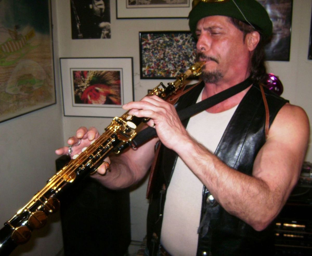 Luke plays the soprano saxophone