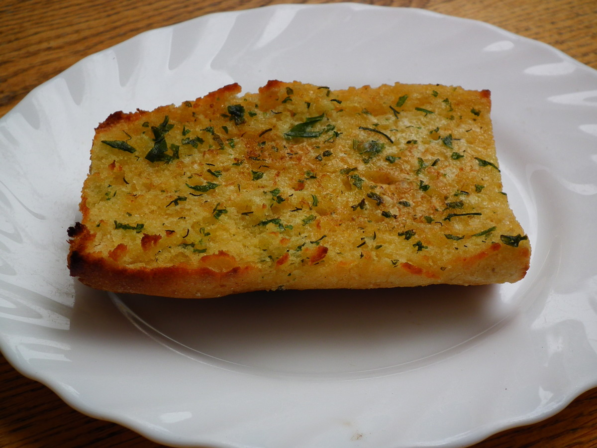 Garlic bread is easy, fast, and delicious with hot dog buns.