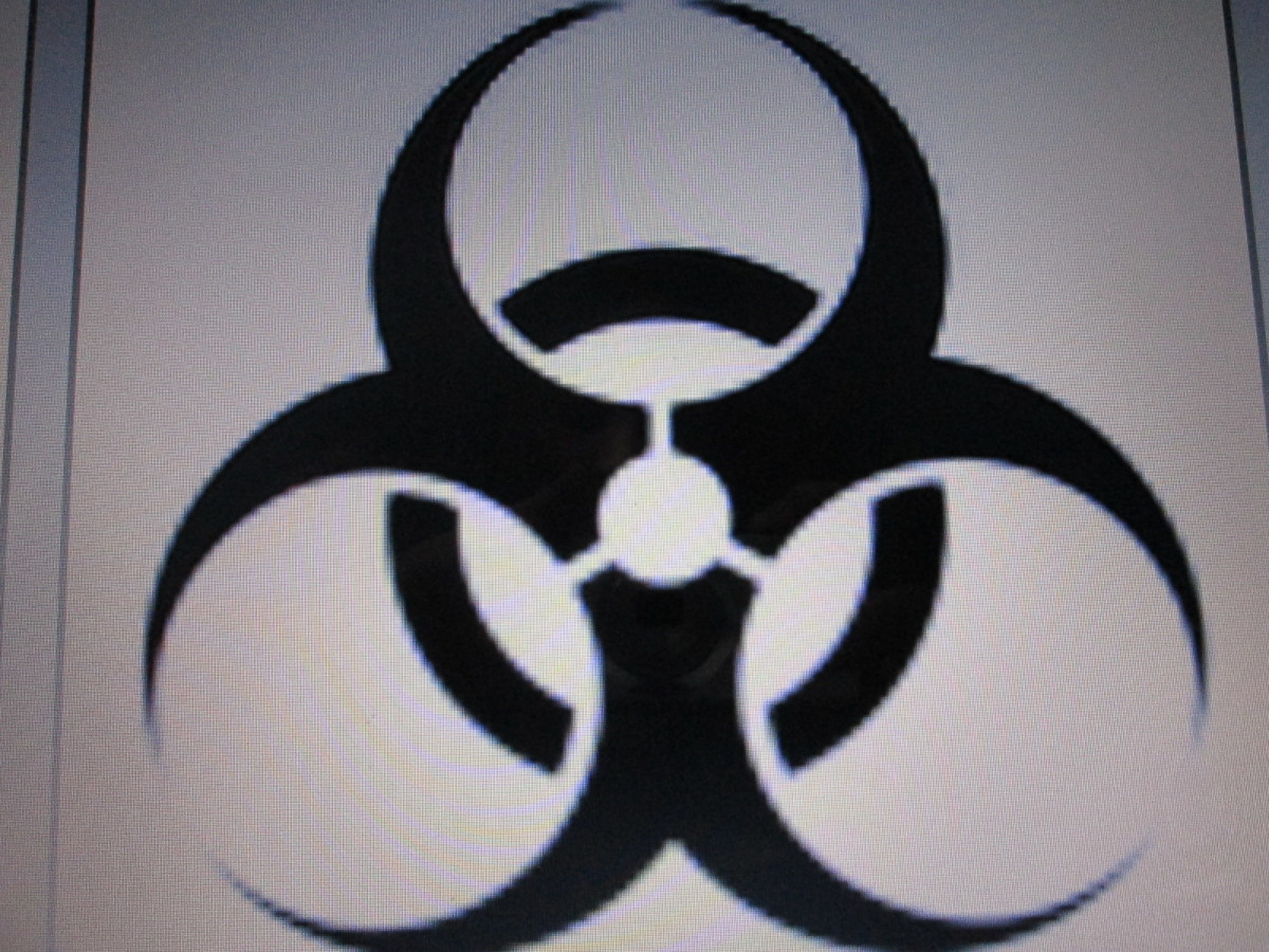 Biohazard, commonly used in hospital laboratories and scientific sites.
