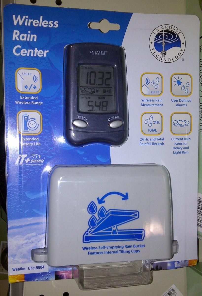 Wireless rain gauge