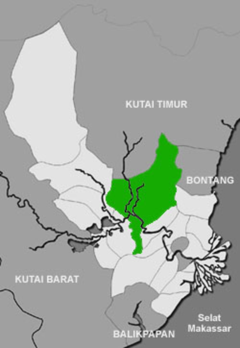 Muara Kaman / Kaman Estuary, the predicted location where Kutai Mardipura Kingdom located.