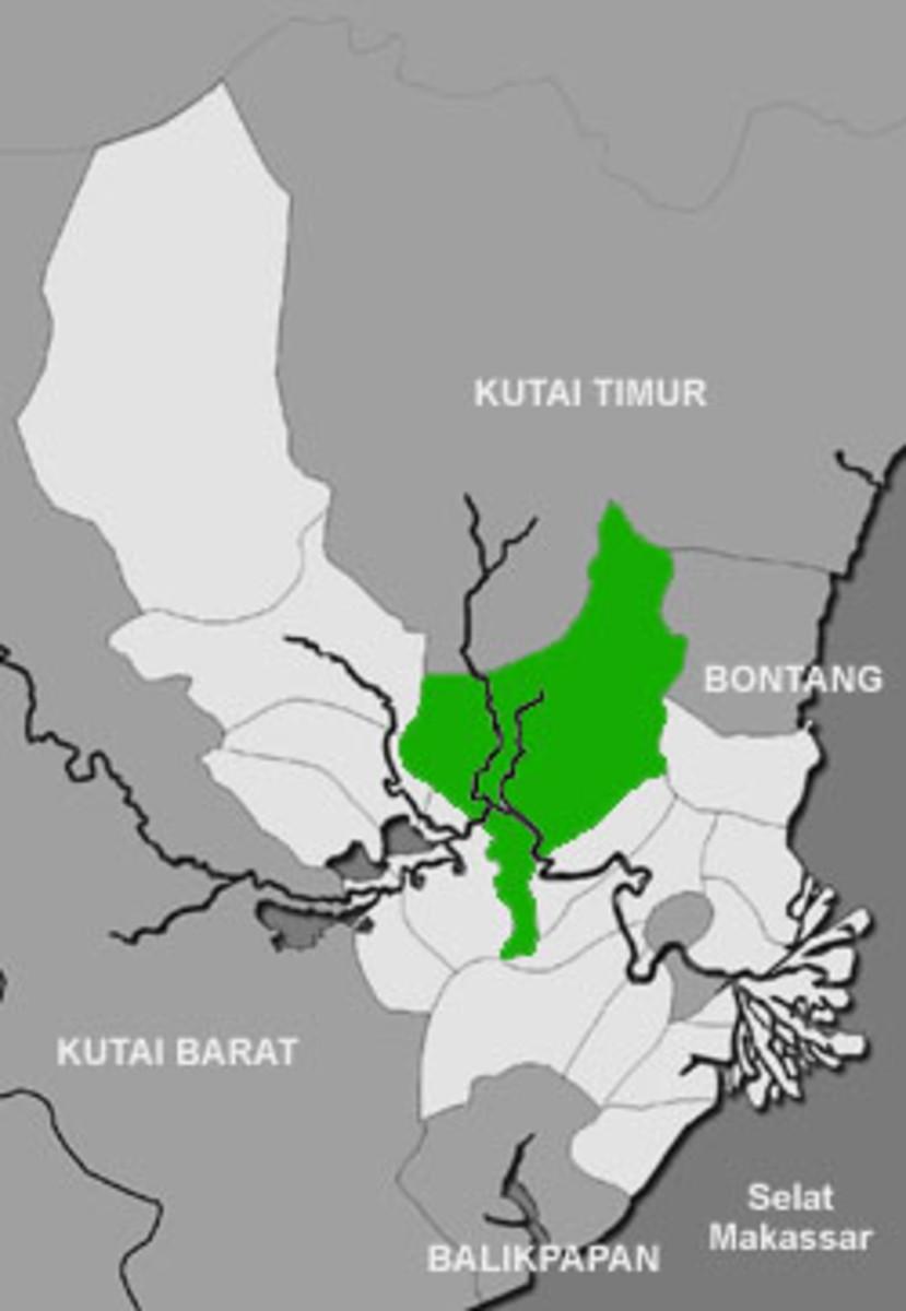 Muara Kaman / Kaman Estuary, the predicted location where Kutai Mardipura Kingdom located.