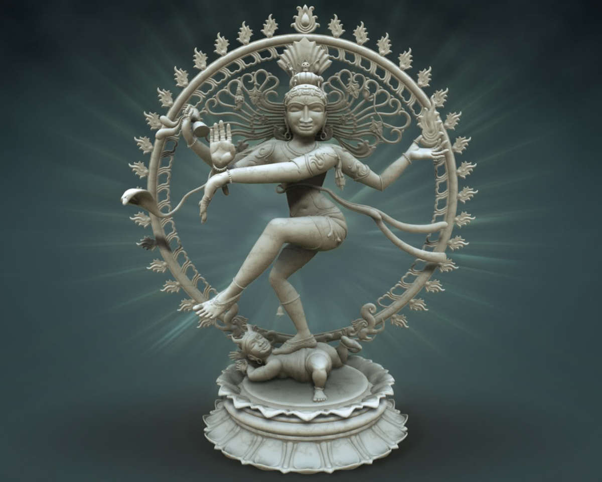 Lord Shiva in a cosmic Dance