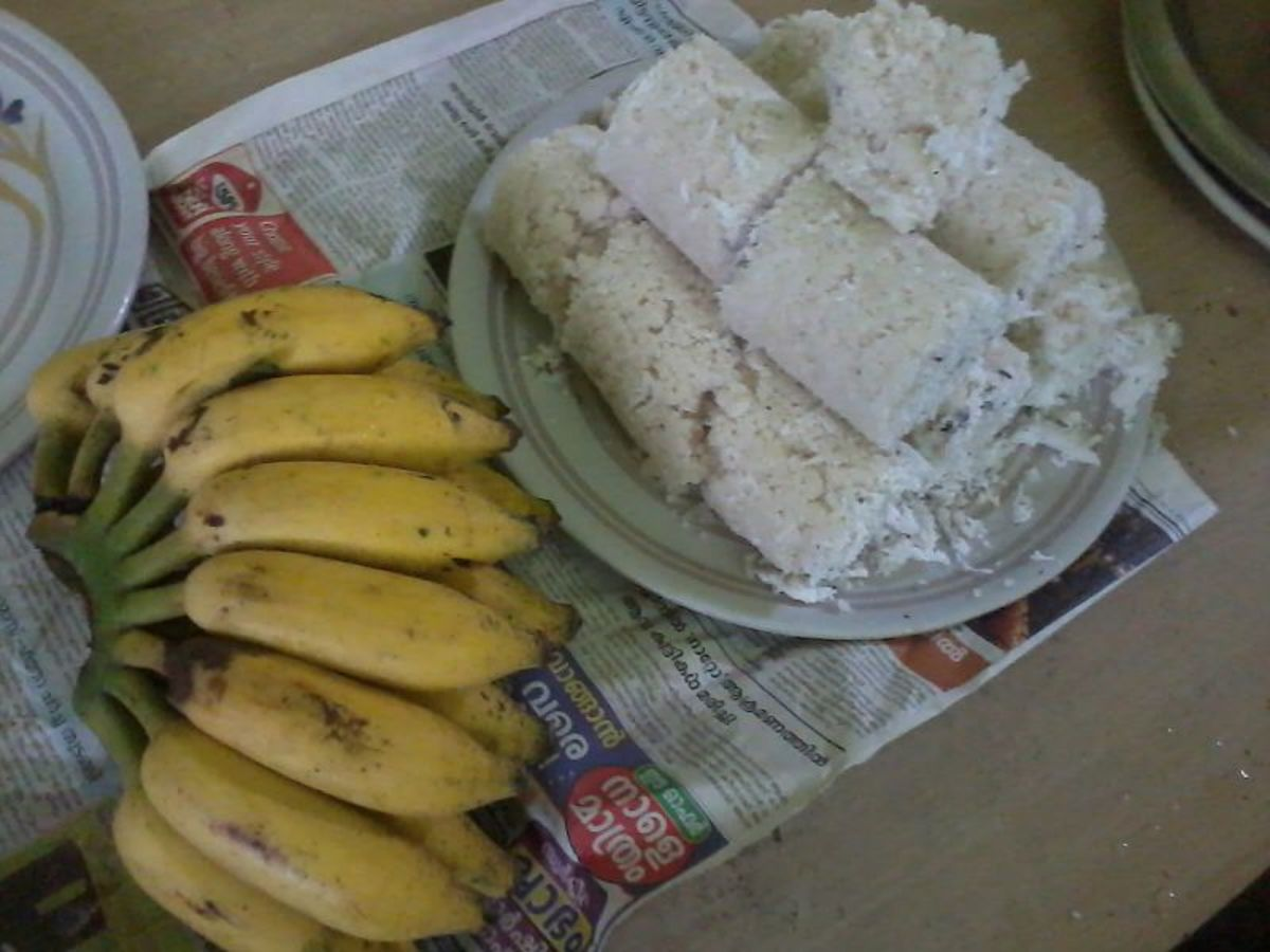 Puttu, the most favorite item for Break Fast in Kerala